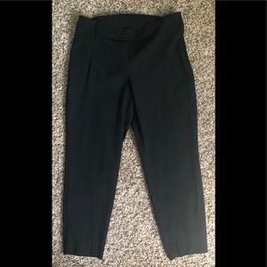 Black side zip ankle pants